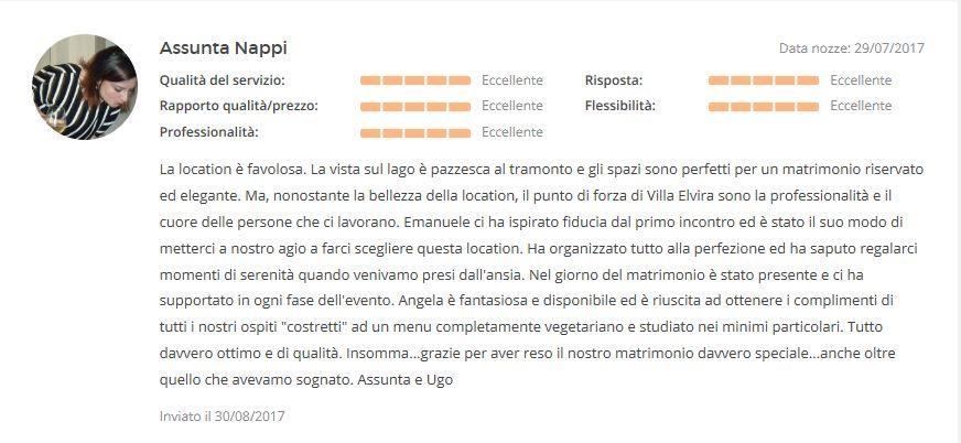 Opinione su Villa Elvira Vaselli Assunta e Ugo