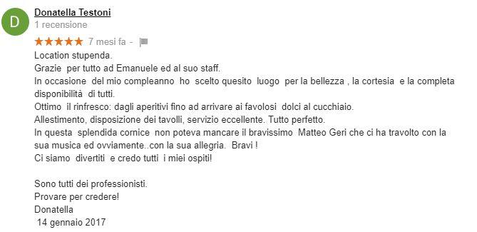 Recensioni Villa Elvira Vaselli Donatella Testoni
